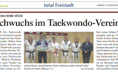 Nachwuchs im Taekwondo Verein