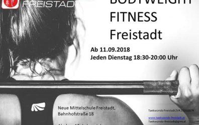 Body Weight Fitness startet wieder!